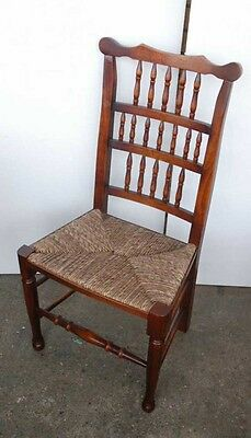 Set 8 English Pad Foot Spindle Back Chairs Spindleback 7
