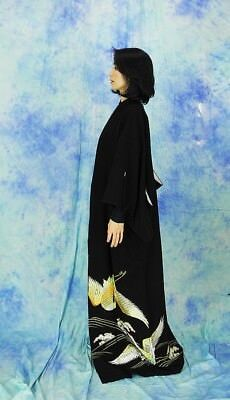 High-Quality   Japanese kimono   KURO-TOMESODE 160cm(62.9inch) 6