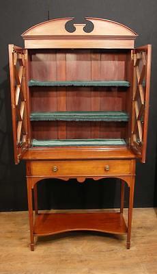 Antique Edwardian Sheraton China Cabinet Bookcase 9