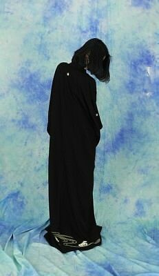 High-Quality   Japanese kimono   KURO-TOMESODE 160cm(62.9inch) 9