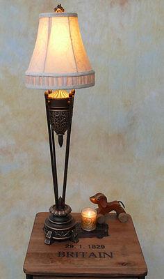 Tischlampe Lampe Stehleuchte Tischleuchte Schmiedeeisen Landhaus PQ011-a