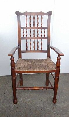 Set 8 English Pad Foot Spindle Back Chairs Spindleback 3