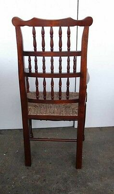 Set 8 English Pad Foot Spindle Back Chairs Spindleback 2