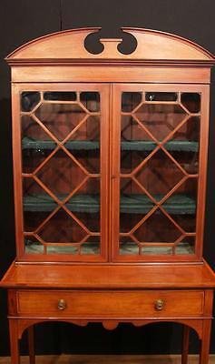 Antique Edwardian Sheraton China Cabinet Bookcase 11