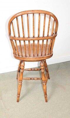 Oak Windsor Bar Stool Chair Windsor Chairs Farmhouse 3
