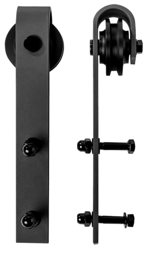 1.8m Sliding Barn Door Hardware Steel Rustic Interior Closet Doors Black Antique 4