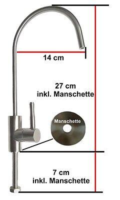 Wasserhahn Edelstahl 3/8 und 1/4 Ventil aus Edelstahl Osmose Osmoseanlage 2