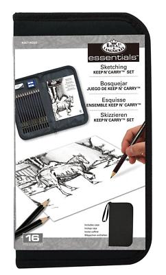 Sketching Set Pencils & Drawing Pad & Keep & Carry Zip Up Storage Case RSET-KCSS 2