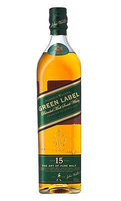 Johnnie Walker Green Label 15 Year Old Pure Malt Scotch Whisky 750ml RAREST SIZE 2