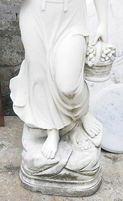 Hand Carved Italian Marble Maiden Female Statue 4