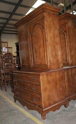 Oak Linen Cabinet Drinks Chest Farmhouse Furniture 7