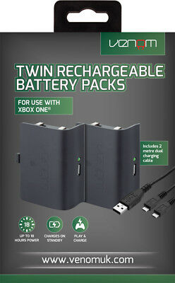 Venom Xbox One Controller Rechargeable Battery Twin Pack - Black - VS2850 4