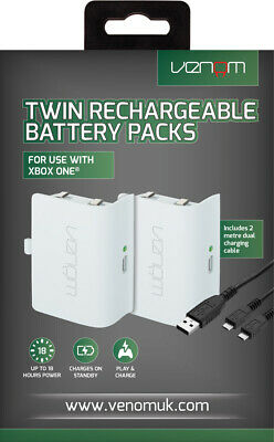 Venom Xbox One Rechargeable Battery Twin Pack - White - VS2860 4