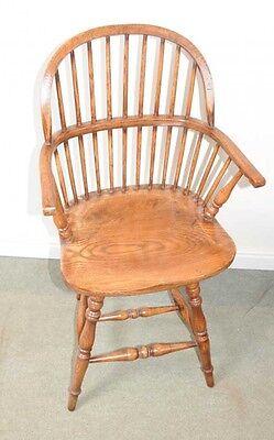 Oak Windsor Bar Stool Chair Windsor Chairs Farmhouse 2