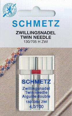 Schmetz Hohlsaum//Flügel-Nähen Maschinennadel x2,Größe 100//16 KAUFEN 2,3rd GRATIS
