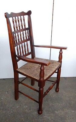 Set 8 English Pad Foot Spindle Back Chairs Spindleback 11