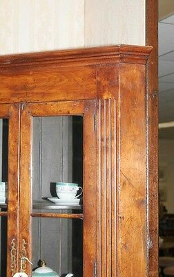 Farmhouse Cherry Wood Corner Cabinet Display Bookcase 3