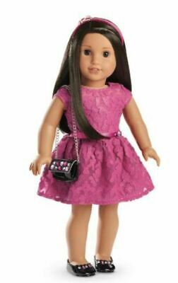 American Girl MERRY MAGENTA Pink Outfit Purse Dress Shoes Christmas    NO Doll 6
