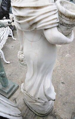 Hand Carved Italian Marble Maiden Female Statue 2
