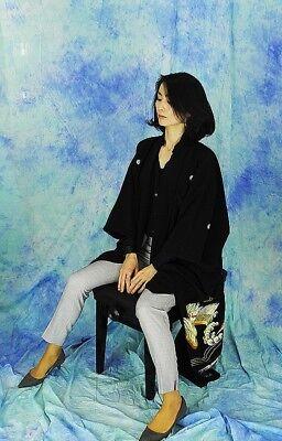 High-Quality   Japanese kimono   KURO-TOMESODE 160cm(62.9inch) 12
