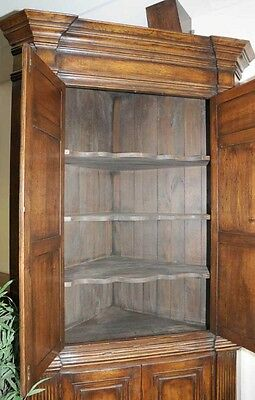 XL Tudor Jacobean Corner Cabinet Oak Farmhouse 4