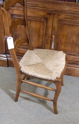 Set 6 English Carved Ladderback Rustic Chairs Ladder Chair 7