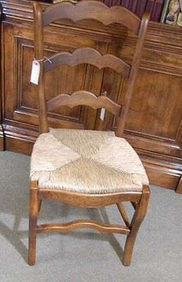 Set 6 English Carved Ladderback Rustic Chairs Ladder Chair 8
