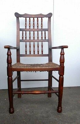 Set 8 English Pad Foot Spindle Back Chairs Spindleback 5