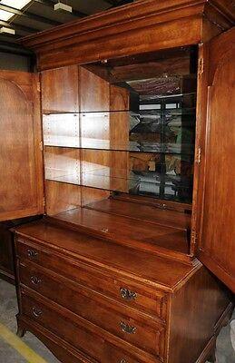 Oak Linen Cabinet Drinks Chest Farmhouse Furniture 2