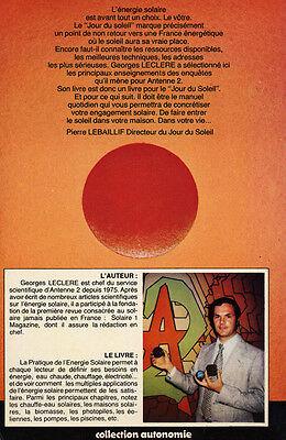 Georges Leclere, Pratique De L'énergie Solaire