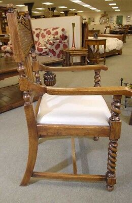 8 English William Mary Rustic Dining Chairs Barley Twis 8