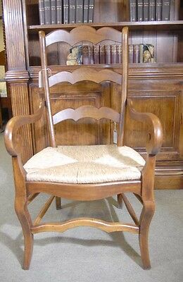 Set 6 English Carved Ladderback Rustic Chairs Ladder Chair