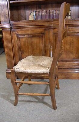 Set 6 English Carved Ladderback Rustic Chairs Ladder Chair 5