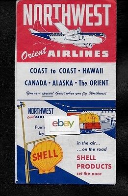 Northwest Orient Airlines Ticket Jacket 8 Seattle Chicago Midway Stratocruiser 14 99 Picclick