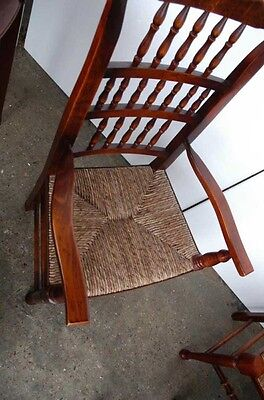 Set 8 English Pad Foot Spindle Back Chairs Spindleback 6