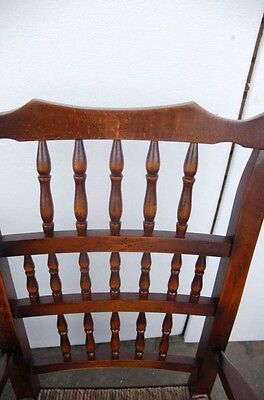 Set 8 English Pad Foot Spindle Back Chairs Spindleback 12