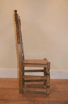 4 Oak Farmhouse William Mary Kitchen Chairs Tudor 8