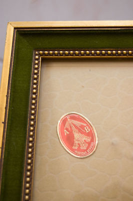 One French wood vintage Louis XVI style frame picture painting photo 3