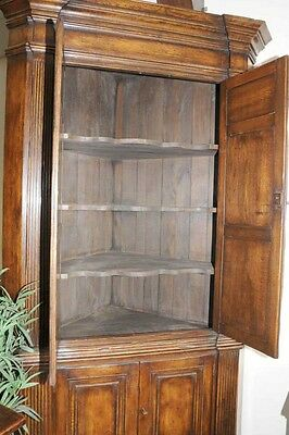 XL Tudor Jacobean Corner Cabinet Oak Farmhouse 8