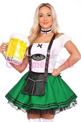Ladies Beer Maid Wench Costume Oktoberfest Gretchen German Fancy Dress Halloween 5