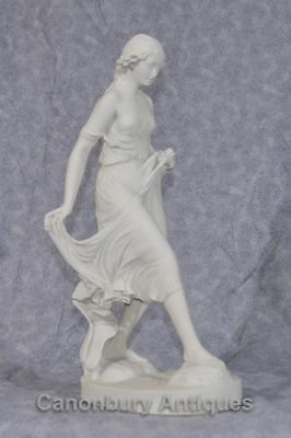 Classical Italian Stone Stepping Stone Maiden Statue Art 8