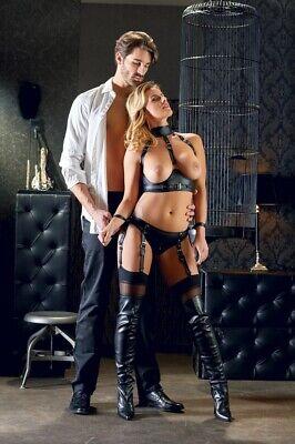 Donna Sexy Completo intimo reggicalze e manette Cottelli Bondage Fetish Lingerie 7