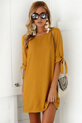 Sexy Womens Plus Size Long T-shirt Ladies Casual Party Mini Dress Blouse Tops 7