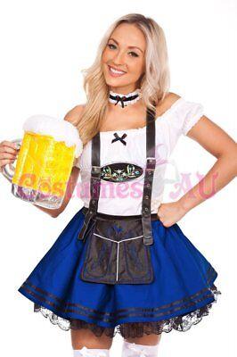 Ladies Beer Maid Wench Costume Oktoberfest Gretchen German Fancy Dress Halloween 2