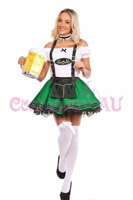 Ladies Beer Maid Wench Costume Oktoberfest Gretchen German Fancy Dress Halloween 6