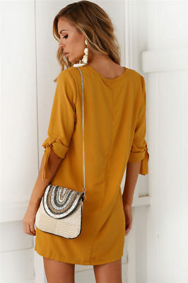 Sexy Womens Plus Size Long T-shirt Ladies Casual Party Mini Dress Blouse Tops 9