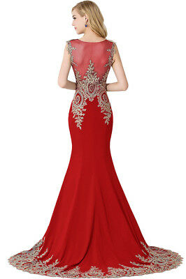 Long Evening Formal Party Dress Prom Ball Gown Bridesmaid Applique New 11