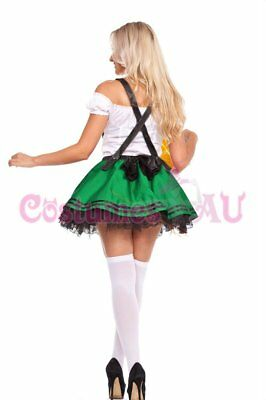 Ladies Beer Maid Wench Costume Oktoberfest Gretchen German Fancy Dress Halloween 7