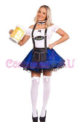 Ladies Beer Maid Wench Costume Oktoberfest Gretchen German Fancy Dress Halloween 3