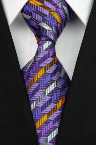 Grey Black Red Blue White Yellow Green Wedding Stripe Necktie Silk Men/'s Tie .